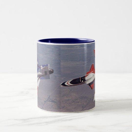 nasa experimental X-29 Two-Tone Coffee Mug