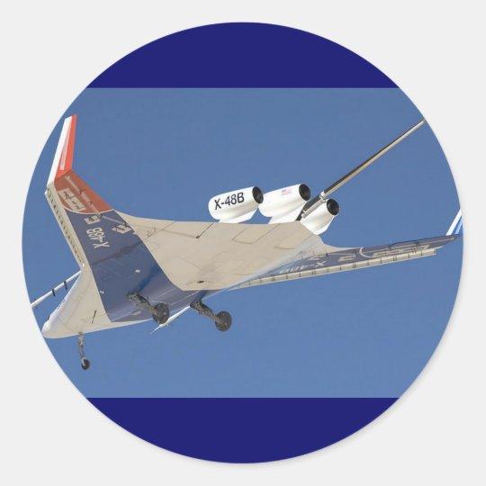 NASA EXPERIMENTAL X-46B CLASSIC ROUND STICKER