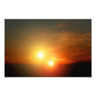 NASA extranjera de la puesta del sol de la estrell Fotografía