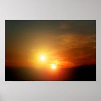 NASA extranjera de la puesta del sol de la estrell Póster