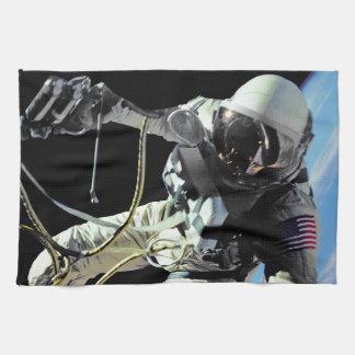 NASA First American Astronaut Spacewalk Photo Towel