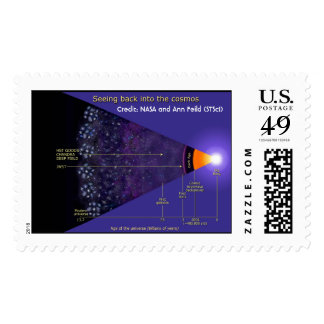 NASA first galaxies illustration Postage