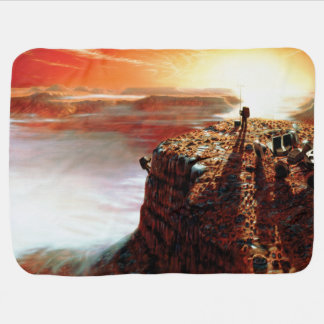 NASA First Trip To Planet Mars Artist Concept Baby Blanket