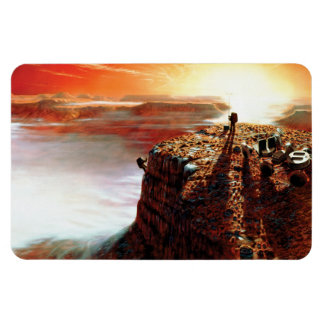 NASA First Trip To Planet Mars Artist Concept Magnet