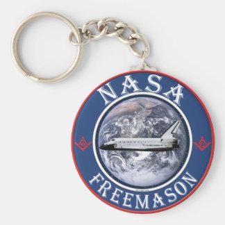 NASA  Freemason Basic Round Button Keychain