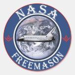 NASA  Freemason Classic Round Sticker