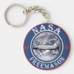 NASA  Freemason Key Chain