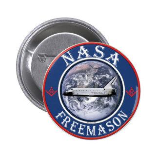 NASA  Freemason Pinback Button