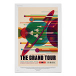 NASA Future Sci Fi Travel Poster - The Grand Tour