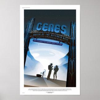 NASA Future Travel Poster - Ceres