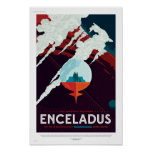 NASA Future Travel Poster - Enceladus