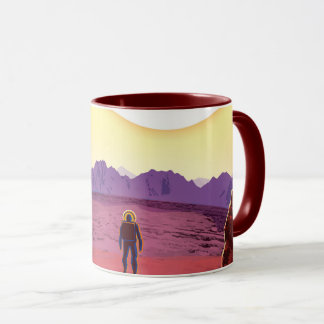 NASA Future Travel Poster - Relax on Kepler 16b Mug
