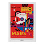 NASA Future Travel Poster - Visit Mars
