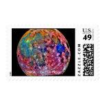 NASA - Galileo - Moon - False Color Stamp