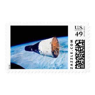 NASA Gemini 7 space capsule postage stamps