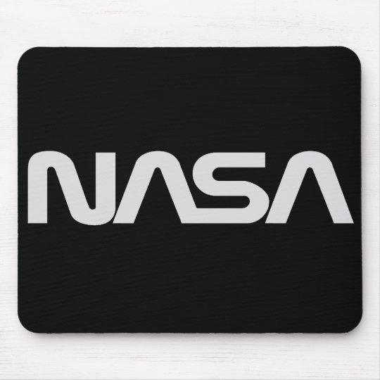 NASA Gray Worm Logo Mouse Pad