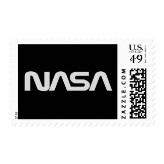 NASA Gray Worm Logo Postage