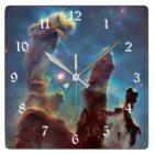 NASA Hubble Telescope Photo PIllars of Creation Square Wall Clock