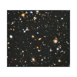 NASA Hubble Ultra Deep Field Galaxies Canvas Print