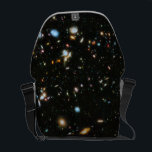 """NASA Hubble Ultra Deep Field Galaxies Messenger Bag<br><div class=""""desc"""">Astronomers using NASA&#39;s Hubble Space Telescope have assembled the most colorful deep space images ever captured. Combining the full range of colors available to Hubble, stretching all the way from ultraviolet to near-infrared light, the resulting image -- made from 841 orbits of telescope viewing time -- contains approximately 10, 000...</div>"""