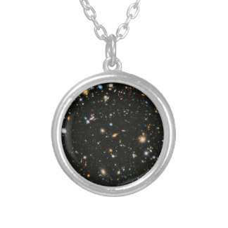 NASA Hubble Ultra Deep Field Galaxies Silver Plated Necklace