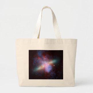 NASA - Imagen X-rayo-Visible-Infrarroja de M82 Bolsa Tela Grande