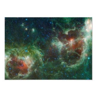 """NASA infrarroja del mosaico de las nebulosas del Invitación 5"""" X 7"""""""