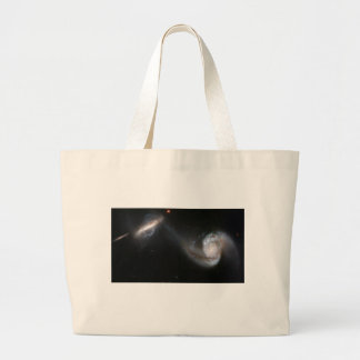 NASA - Interacting Galaxy Pair Arp87 Large Tote Bag