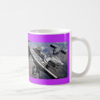 nasa international space station classic white coffee mug