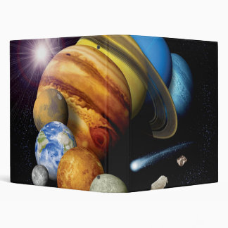 NASA JPL Solar System Planets Montage Space Photos 3 Ring Binder