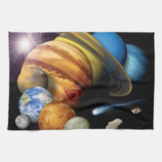 NASA JPL Solar System Planets Montage Space Photos Hand Towel
