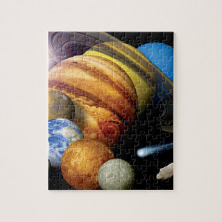 NASA JPL Solar System Planets Montage Space Photos Jigsaw Puzzle