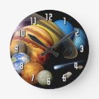 NASA JPL Solar System Planets Montage Space Photos Round Clock