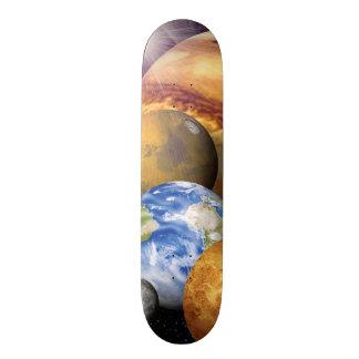 NASA JPL Solar System Planets Montage Space Photos Skateboard