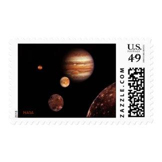 NASA Jupiter Moons Postage Stamps