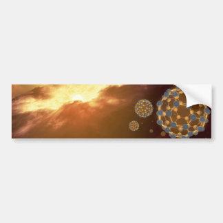 NASA Largest Molecule Buckyballs Bumper Sticker
