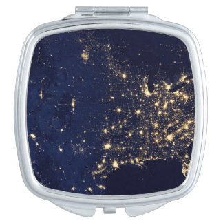 Nasa Lights from Space USA Compact Mirror