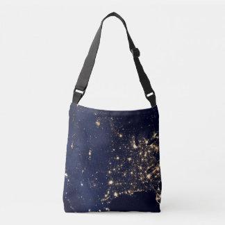 Nasa Lights from Space USA Crossbody Bag