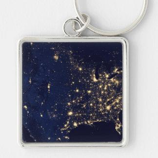 Nasa Lights from Space USA Keychain