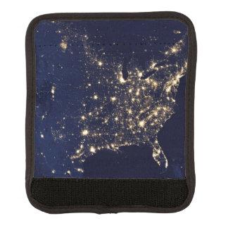 Nasa Lights from Space USA Luggage Handle Wrap