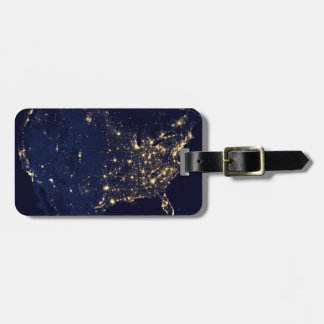 Nasa Lights from Space USA Luggage Tag