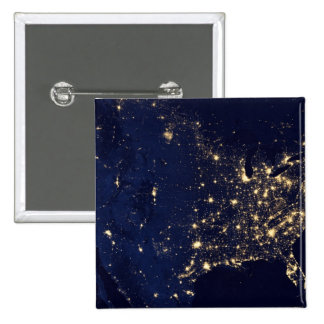 Nasa Lights from Space USA Pinback Button