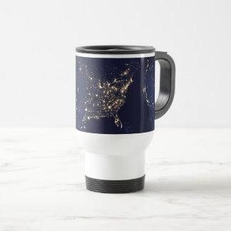 Nasa Lights from Space USA Travel Mug