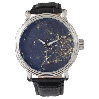 Nasa Lights from Space USA Wrist Watch