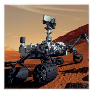 NASA Mars Curiosity Rover Artist Concept Poster