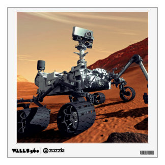 NASA Mars Curiosity Rover Artist Concept Wall Decal