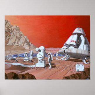 NASA Mars Mission Poster