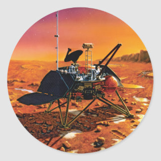 NASA Mars Polar Lander Artist Concept Artwork Classic Round Sticker