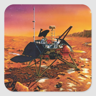 NASA Mars Polar Lander Artist Concept Artwork Square Sticker
