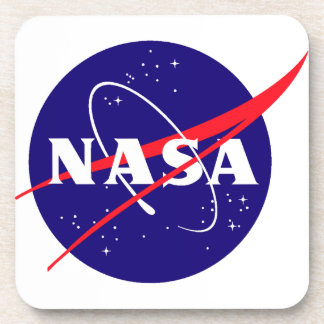 NASA Meatball Logo Beverage Coasters